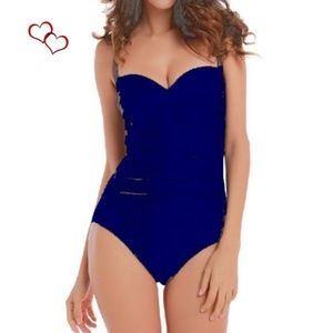 Other - NWT BLUE ONE PIECE SWIMSUIT  SIZE L